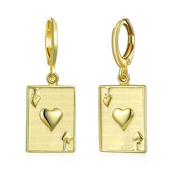Wholesale Fashion Poker J Earrings Indian Design Jhumka 14 Karat
