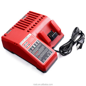 Replace for Milwaukee M18 Battery Charger 14.4V-18V Lithium ion 48-11-1852 48-11-1850 Cordless Tool Battery