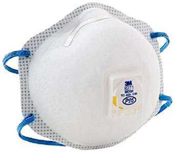 3M 8271 P95 Disposable Particulate Cup Respirator with Cool Flow Exhalation Valve, Standard (8 Boxes of 10)