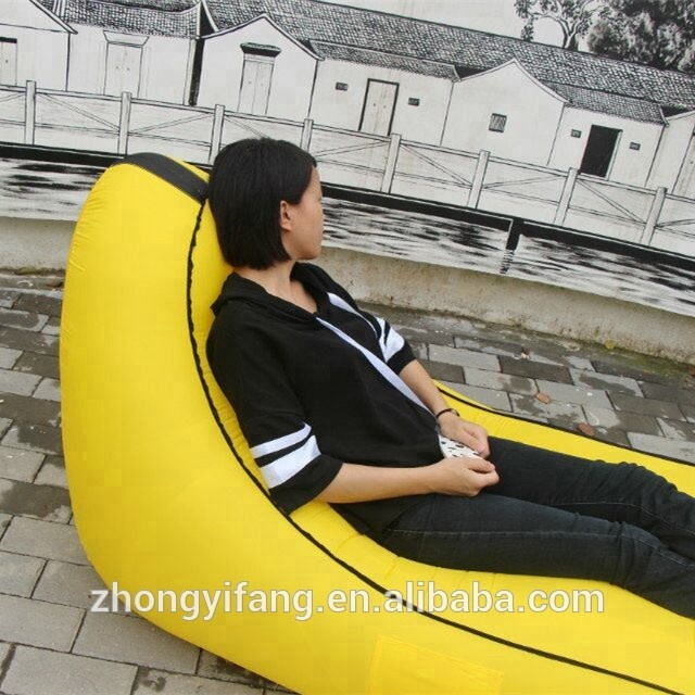 In CHINA Who Can Do It Inflatable Lounger Couch Chair, Indoor or Outdoor Foldable Air Lazy Bag ,Sofa,Beach Hammock Bed