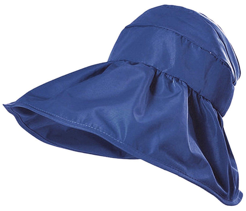1fef2f860bb Get Quotations · Aniwon Womens Beach Hat UV Protection Foldable Beach Visor Hat  Summer Beach Cap Floppy Beach Cap