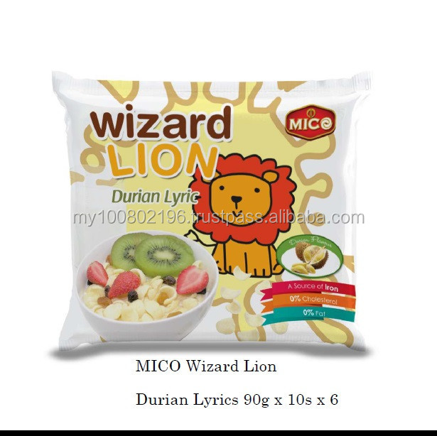 Mico Wizard Lion Durian Lyrics 90g
