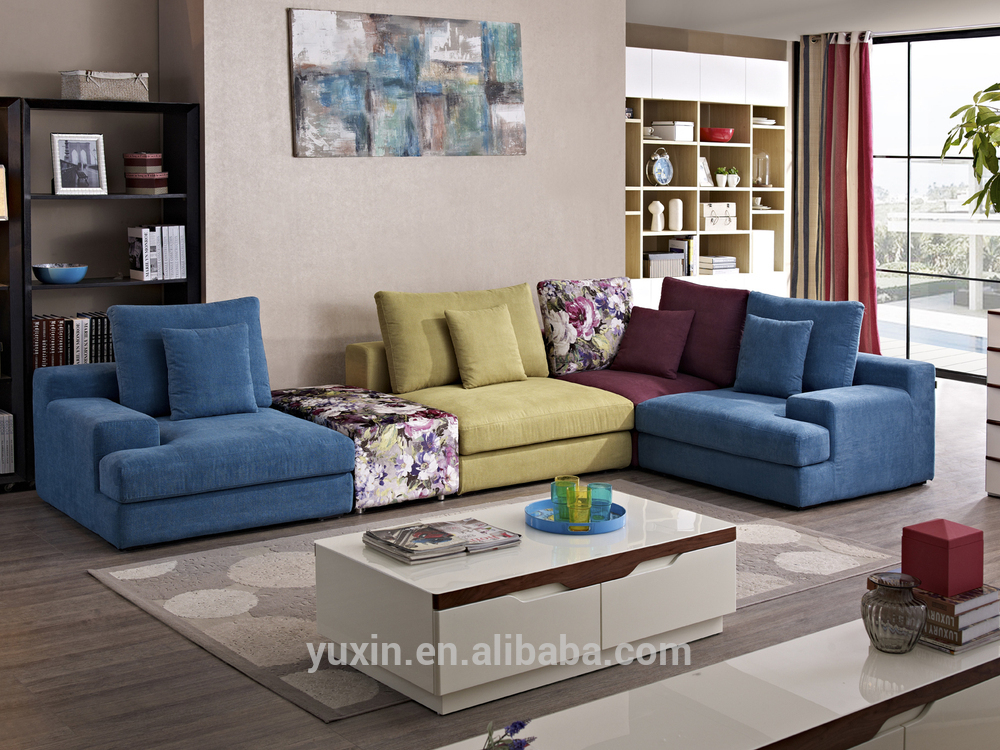 Moroccan new model living room fabric corner sofa home for Living room design in nepal