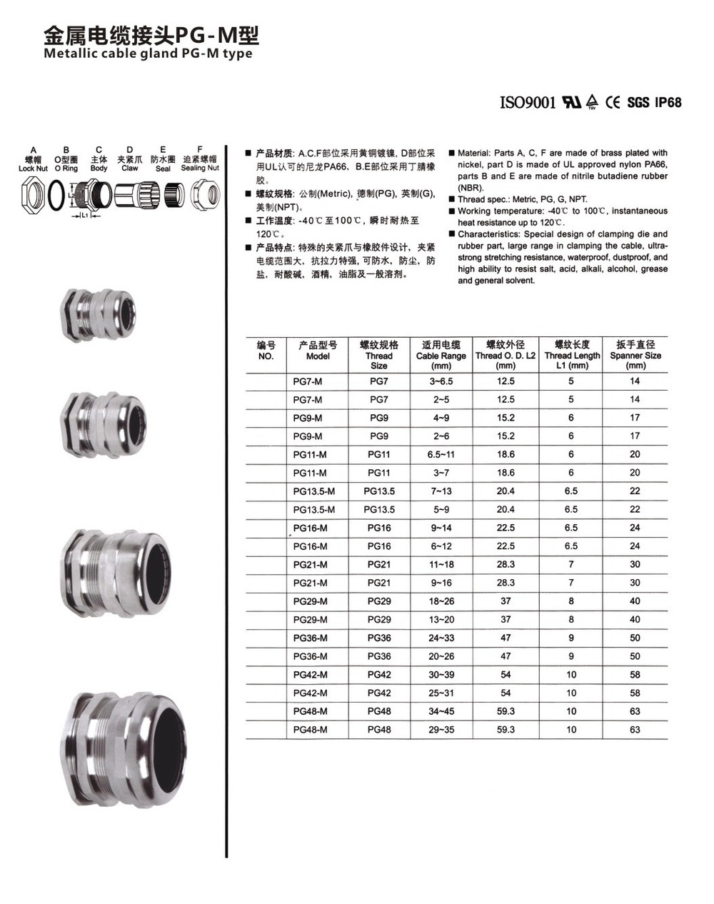 New High Quality A Waterers Connector Pg7 Pg9 Pg11 Pg13 5