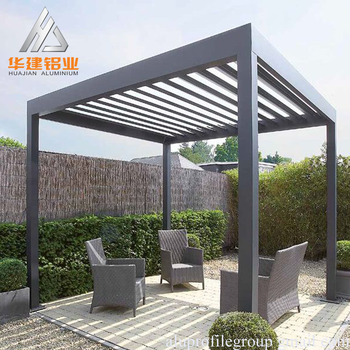 Popluar powder coating aluminum pergola wood color with - Pergola alu toile retractable ...