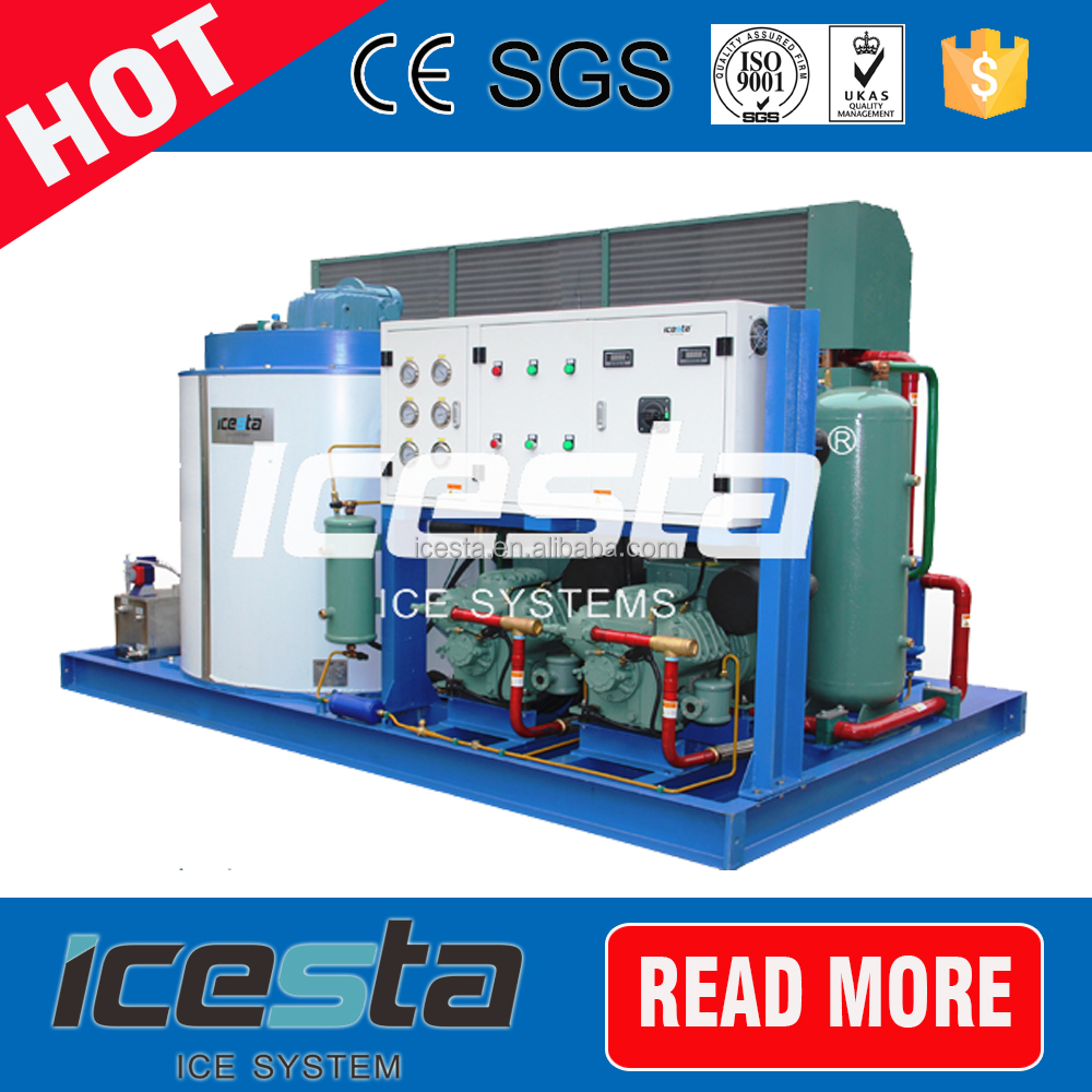 Space Saving large scale SUS304 380V industrial concrete cooling flake ice machine for saudi arabia