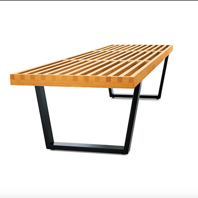 long bench modern solid ash Platform Bench