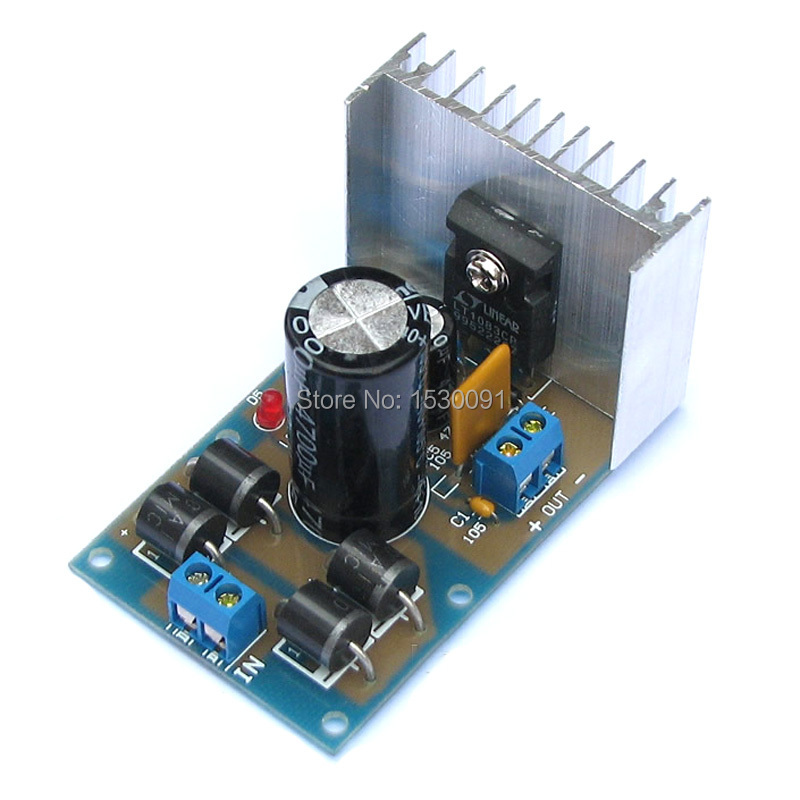 5pcs/lot LT1083cp linear regulated DC power supply board 2.5-12-24-30V Superpower Adjustable Voltage board Free shipping