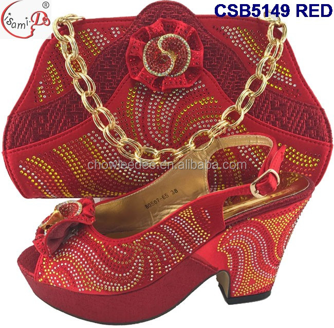 New and wedding shoes shoes party and high 2017 heel african heel Top bag bag fashion Arrival middle fZqrxwSf