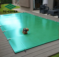 Swimming pool pvc winter solid safety cover for inground pool