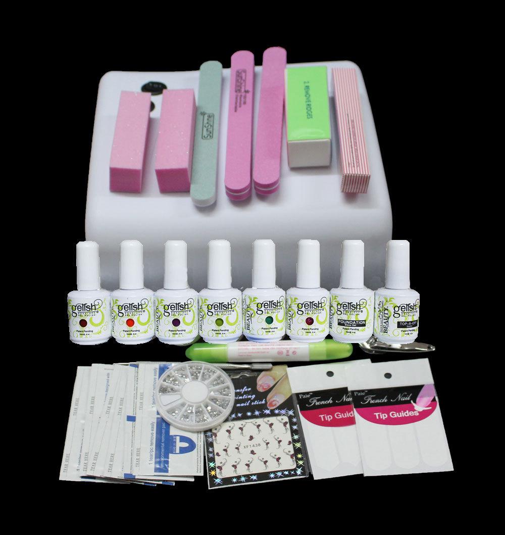 uc 73 hight quality gel nail polish set nail gel lamp uv gel set manicure nail art tools base. Black Bedroom Furniture Sets. Home Design Ideas