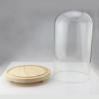 Unique Design Glass Bell Jar Dome , Dome top glass candle jar with glass lid