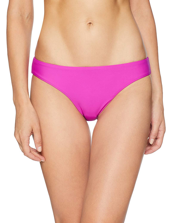 b016f8f190 Get Quotations · PilyQ Women's Fuchsia Basic Ruched Bikini Bottom Full  Swimsuit