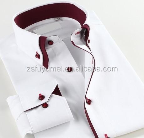 Latest Dress Shirt Designs/men High Collar Shirts Withouble Collar ...