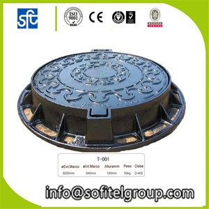 Cast iron manhole cover round drain covers 600mm