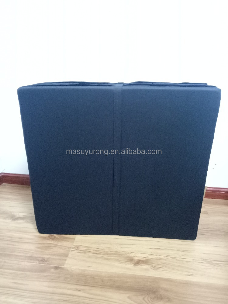 Folding mattress -black -grey fill foam with cotton cover or polyester cover
