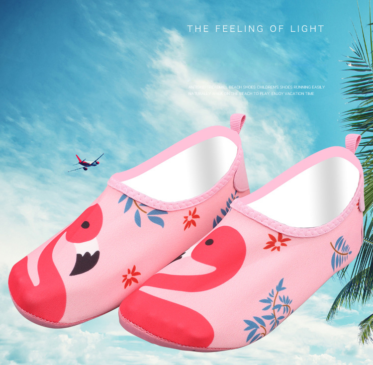 5a8142d31457 Boys girls barefoot skin sock pink bird beach aqua shoes pool ...
