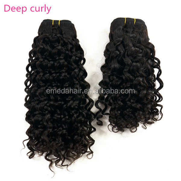 Hottest no tangle 100% Indian Spring/deep/kinky/Jerry/egg/water Curl human hair extension