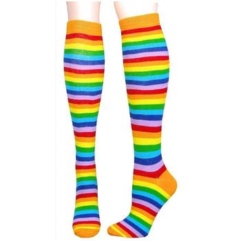 42f9f5ac6 Eco Hosiery Socks Ladies Stripe Pattern Woman Custom Knee High Socks ...