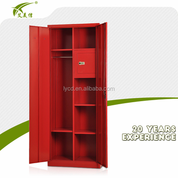 Luoyang Meijie 2 Swing Door Iron Clothes File Storage Wardrobe With