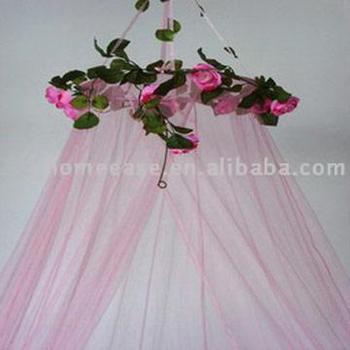 2017 ourdoor mosquito net pink flower bed canopy - buy bed canopy