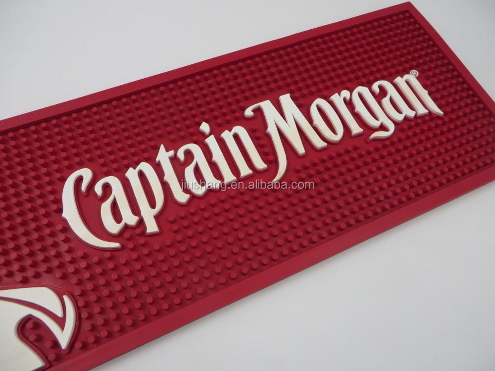 Captain Morgan Bar Mat Custom Logo Bar Runner Bar Rail Mat