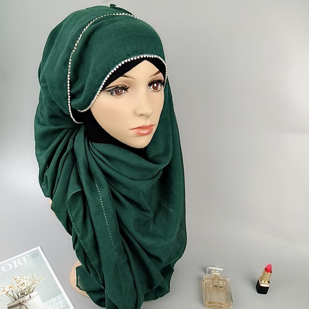 e1cacdabd1a16 Femmes musulmanes Hijab Intérieur Foulard Casquette Islamique Pleine  Couverture Chapeau Islamique