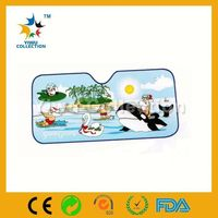 printed logo car sun block plate,auto sunshade covers,sun visor sliver color