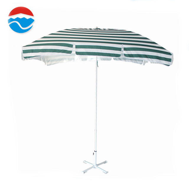 2M*3M*4K Leisure Ways Outdoor White And Green Color Umbrella Plants