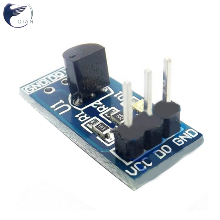 3 Pin <strong>Hole</strong> DS18B20 Temperature Sensor board Temperature Measurement Module