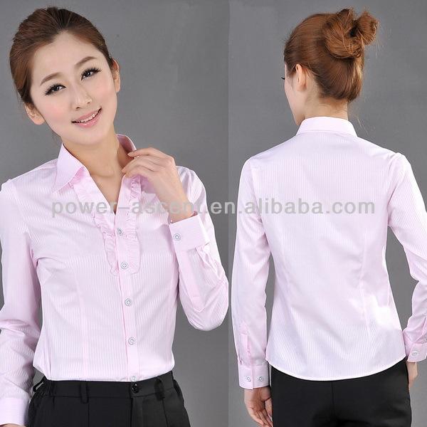 7fc097bf619a 2015 nuevo estilo mujer camisa de oficina camisa del uniforme-Blusas ...
