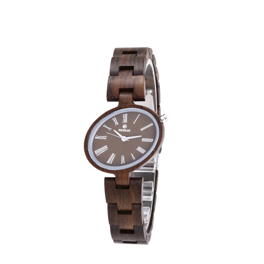 a6b9f5e38562 Fábrica china sándalo mayorista reloj de señoras reloj de madera logotipo  personalizado