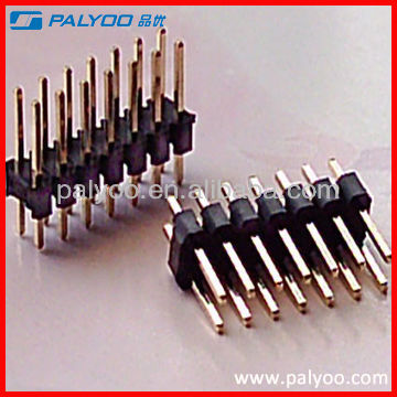 gold plated 2x7 14 pin double row 2.54mm pitch pin header