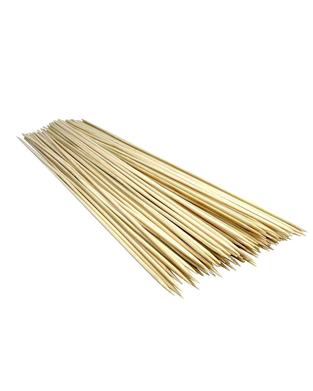 "Magic Hub Garden 200pcs 11.5"" Kabob Skewers Wood Bamboo Skewers Wood Sticks BBQ Shish Kabob Chocolate Fondue Grill Cook"