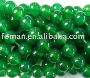 8mm round natural loose gemstone beads green agate stone