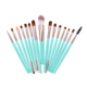travel style tiny makeup brushes for eye shadow eyelash make up brushes in black,red,white,blue and pink