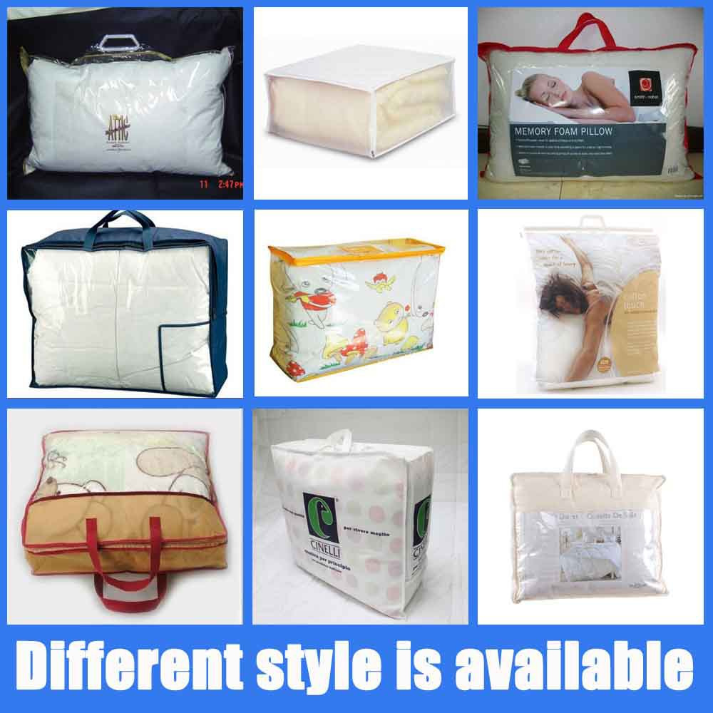 Transparent Bed Sheet Blanket Pillow Packaging Storage