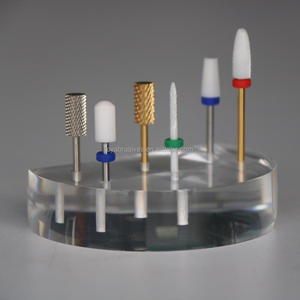 Transparent Acrylic Nail Art Drill Bit holder Display