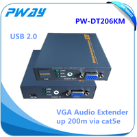 1080P VGA kvm extender via cat5e/6 200m support keyboard and usb video ethernet transmitter and receiver