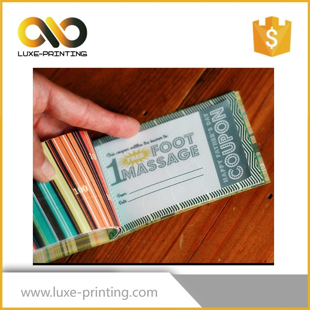 2017 newest hot selling printing coupon books