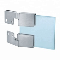 Zinc alloy hinge for glass door cabinet glass hinge clip 3-5mm