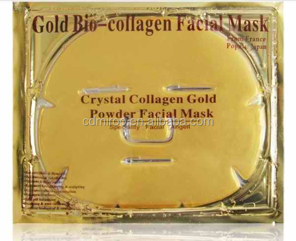 Wholesale Hot! 60pcs france gold bio-collagen facial mask free shipping by <strong>Fedex</strong>