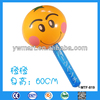 Inflatable hammer toy, fruit design inflatable plastic hammer toy for kids