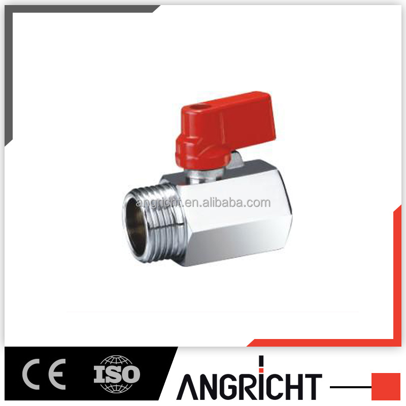 Male Female threaded connect pneumatic brass ball valve,mini air valve
