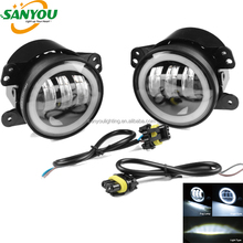 Newest 30W 4inch LED Car LED Fog light for Jeep Wrangler JK with Angle Eyes Halo LED Fog Light with DRL