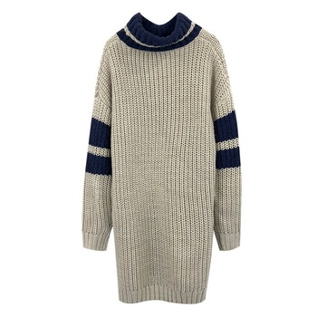 Turtleneck Sweater Oversized Nepal Cable-Knit Sweater