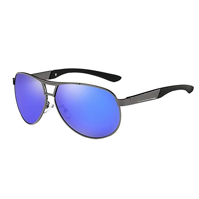 ผู้ขายร้อนแฟชั่นผู้ชายUV400แว่นกันแดดกระจกแว่นตาอาทิตย์แว่นตาสำหรับผู้ชาย