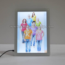 Advertising display plastic acrylic light box rechargeable battery powered led sign