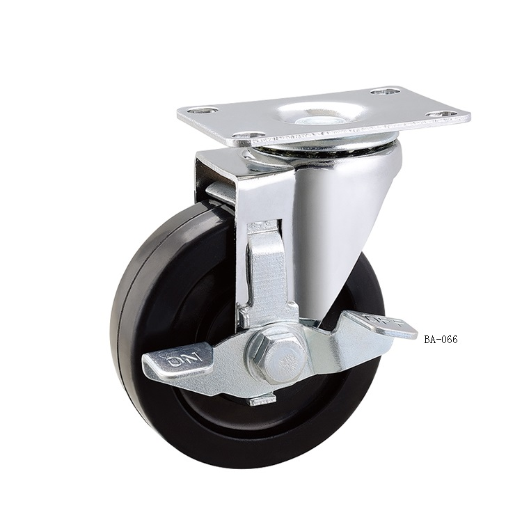 4inch Rubber Conductive Cart Caster Wheel