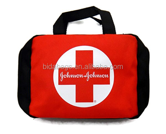 Red & Black First Aid Bag - Build Your Own Personal First Aid Kit